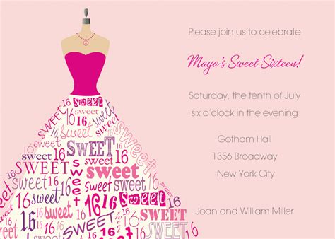 sweet 16th birthday invitations templates free drevio