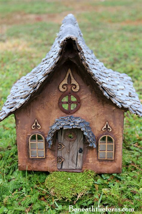 how to put a house window back on track fairy house beneath the ferns
