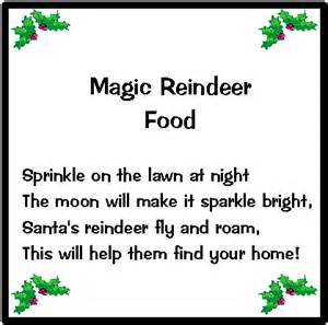 Recipe swappers magic reindeer food