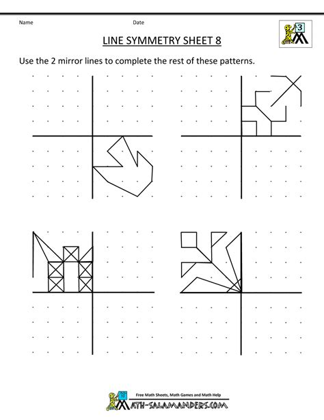 Line Symmetry Worksheets by Symmetry Worksheets Line Symmetry 8 Gif 1 000 215 1 294 Pixels