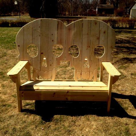 wooden skull lawn chair plans king size wooden skull bench skeleton skulls with