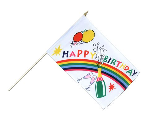 Balloonable Banner Flag Happy Anniversary happy birthday waving flag 12x18 quot royal flags