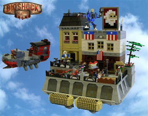 Kitchen Servers Furniture the world of bioshock infinite created with legos