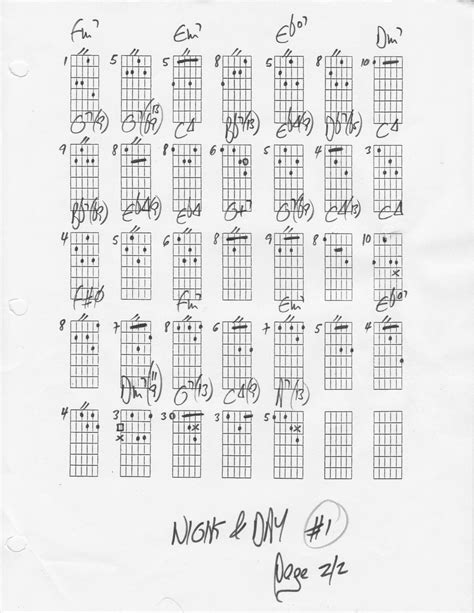 """""""Night And Day"""" the chord changes - chords - chord changes"""