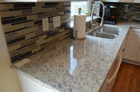 backsplash with white countertops dallas white granite home design inspirations