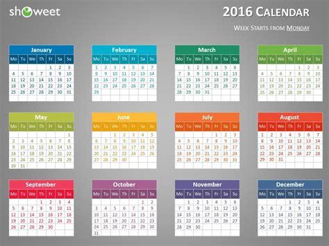 Calendar In Powerpoint 2016 Calendar Template Powerpoint