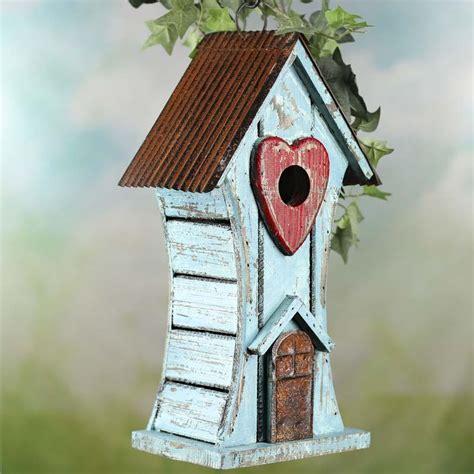 Birdhouse Decor by Rustic Wood Birdhouse Decorative Accents Primitive Decor