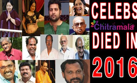 actors that died in 2016 download pdf actors we lost in 2016 from tollywood and kollywood