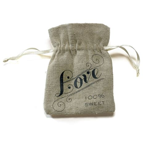 Wedding Favor Bags by 12 Mini Linen Burlap Style Drawstring Pouch Wedding