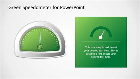 Green Speedometer Template For Powerpoint Slidemodel Speedometer Powerpoint Template
