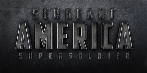 metal typography photoshop tutorial quick tip create a cinematic quot sergeant america quot text