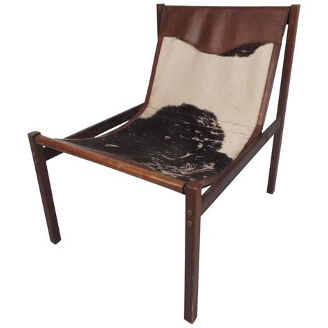 cowhide lounge chair vintage cowhide and leather italian lounge chair by