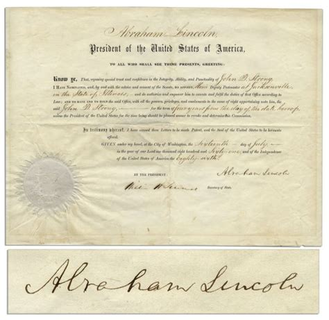 abraham lincoln condition lot detail abraham lincoln document signed in wonderful