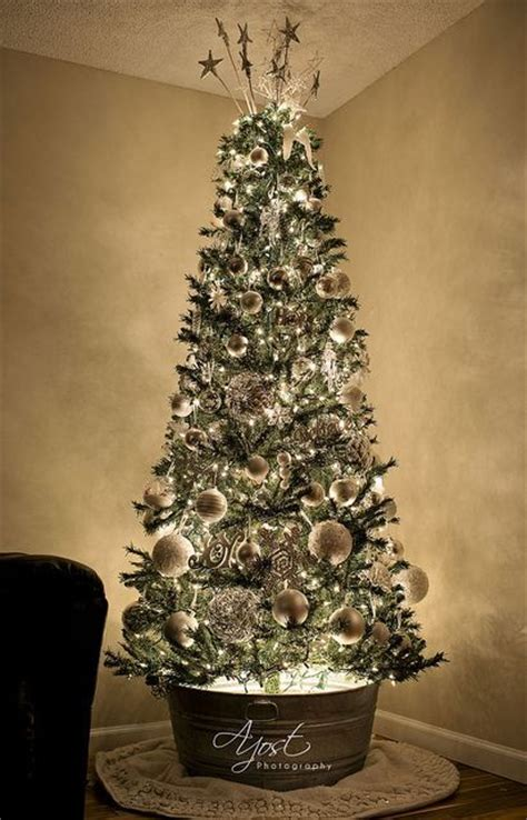 rustic christmas trees galvanized steel and christmas