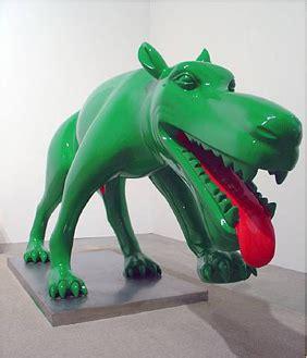 green puppy today zhou chunya s green dogs invade indonesia