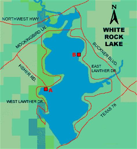 map rock texas white rock lake access