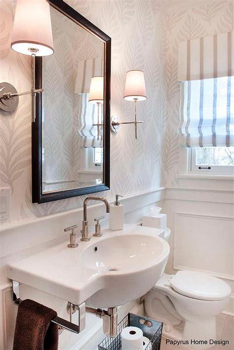 striped powder room contemporary bathroom lonny magazine