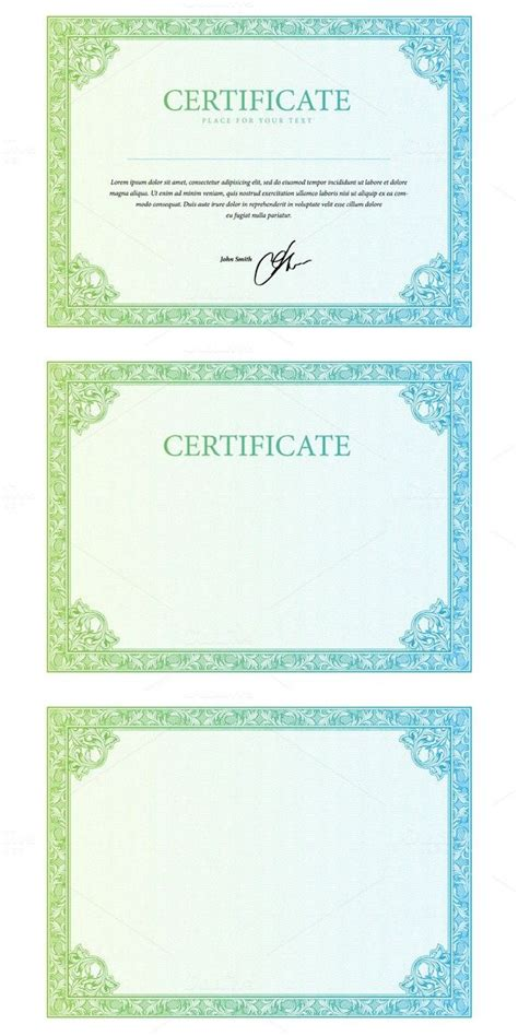 1000 ideas about certificate templates on pinterest