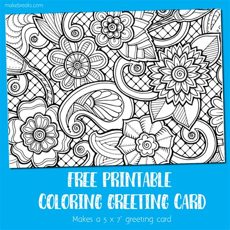 printable greeting cards for coloring coloring card greeting card to color make breaks