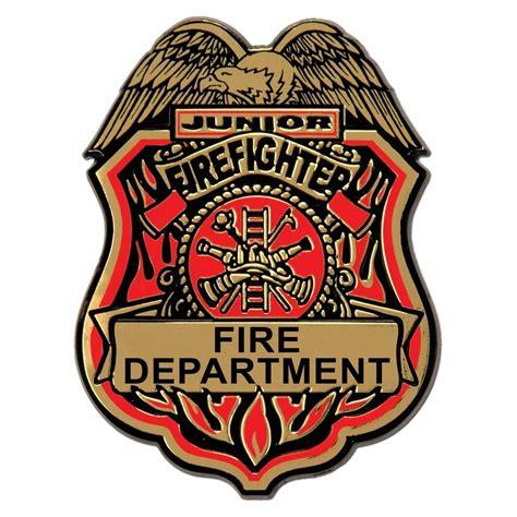 jr firefighter plastic badge wclip fire engine birthday