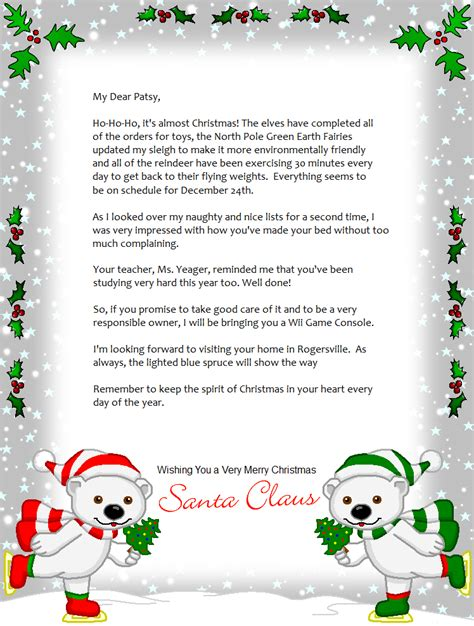 free printable letter from santa au free printable christmas letters from santa making