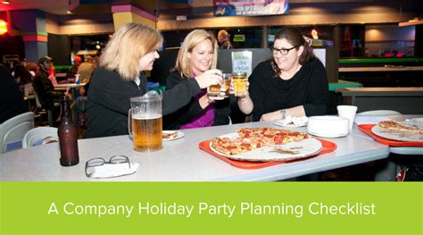 a company holiday party planning checklist pin chasers