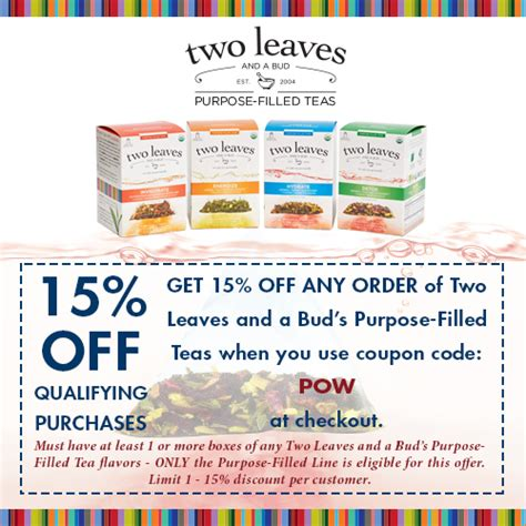 Two Leaves And A Bud Detox Tea by Retail And Wholesale Coffee Shop Supplies Www