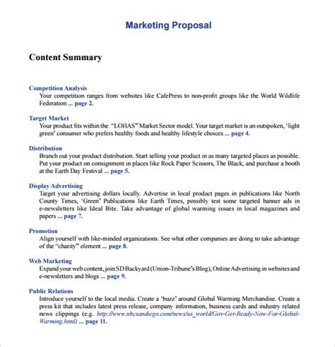 19 marketing proposal templates free sle exle