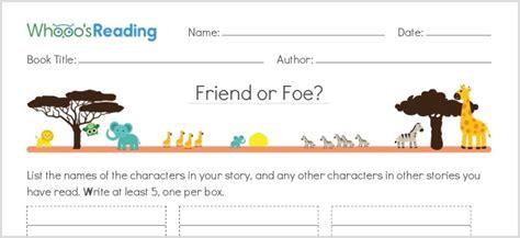 Matchmakers Friend Or Foe by 10 Free K 8 Literacy Worksheet Printables