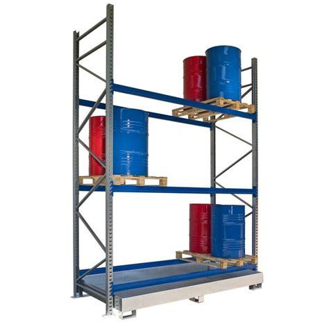 scaffali modulari vasche e strutture di raccolta per fusti e cisterne