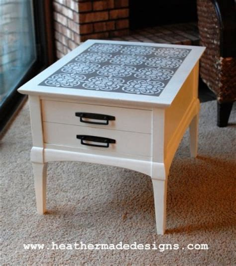 end table makeover ideas thrift store side table before and after