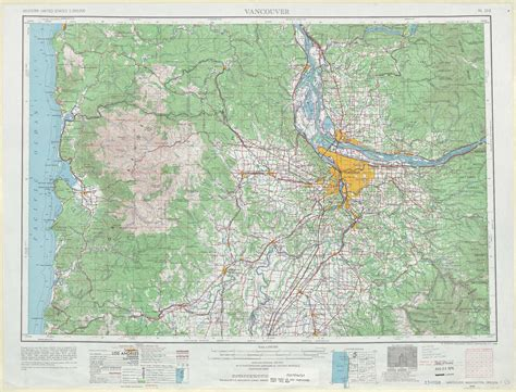 topographical map oregon vancouver topographic maps or wa usgs topo