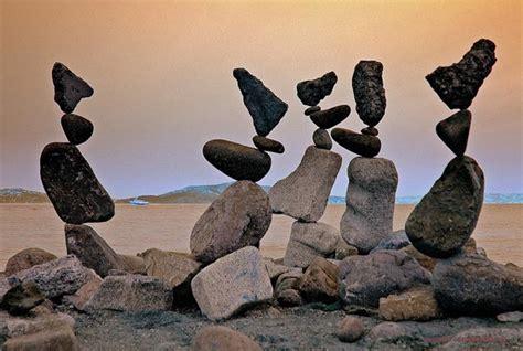 rock balancing art by bill dan
