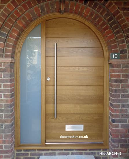 arched front door contemporary arched front doors oak iroko and other woods