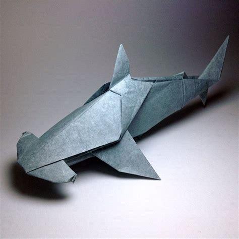 Easy Origami Shark - origami hammerhead shark origami