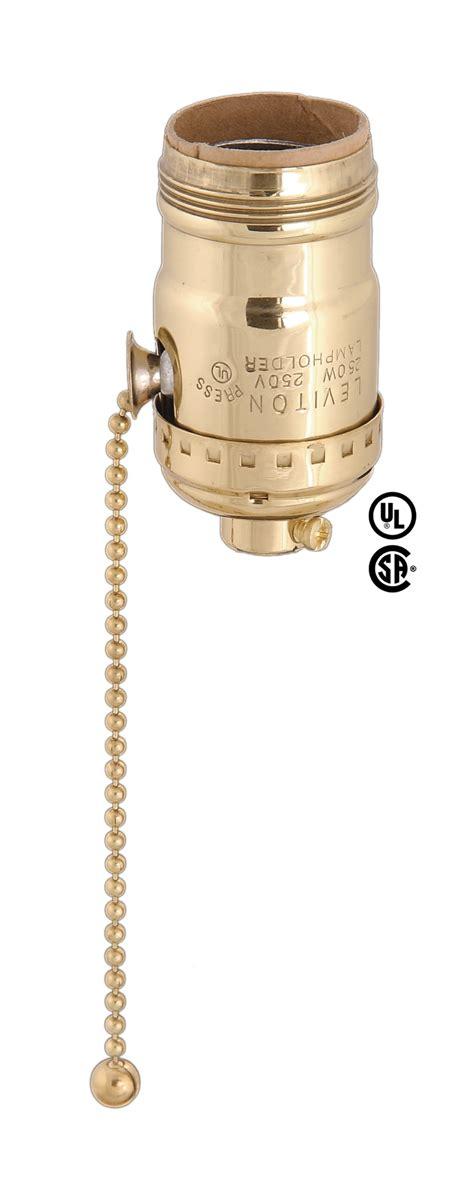 pull chain l socket leviton brand pull chain socket for 3 way bulbs 40190 b