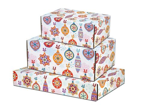 Decorative Shipping Boxes by Festive Ornaments Decorative Shipping Boxes Boxandwrap