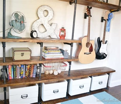 industrial shelves for a boy s room beneath my heart diy industrial shelves jonathan s side of the room
