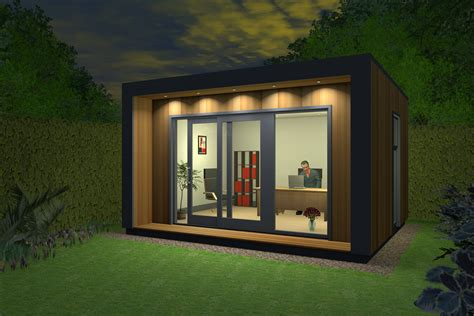 Shed Roof Home Plans insulated garden office contemporary garden office