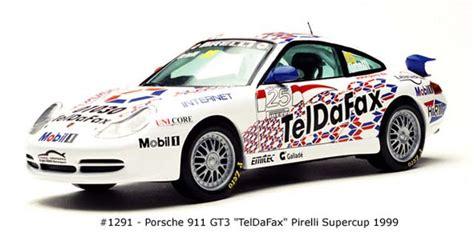 Diecast Sunstar 1 18 1291 Porsche 911 Gt3 Teldafax No 25 sun 1999 porsche 911 gt3 teldafax 1291 im 1 18