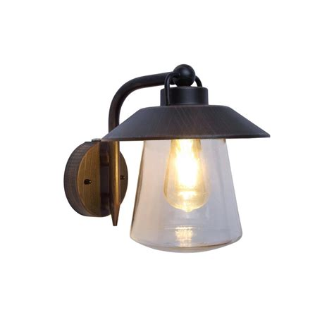 home decorators collection 1 light rust outdoor wall mount