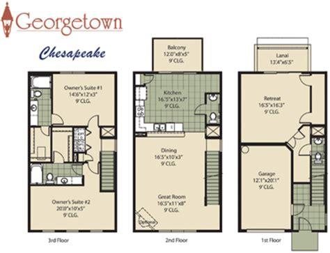 georgetown floor plan georgetown townhome community in jacksonville florida