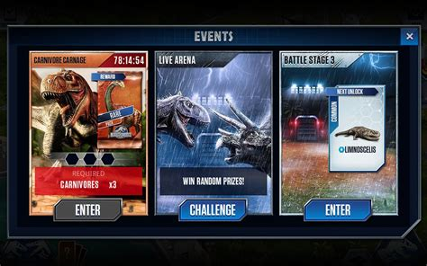 Jurassic World The Game Giveaways Top - jurassic world the game for android