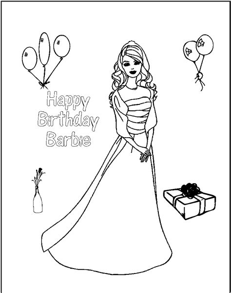 coloring page birthday girl free printable barbie coloring pages for kids