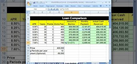 Loan Excel Spreadsheet by How To Compare Loans With A Spreadsheet In Microsoft Excel