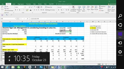 Sensitivity Table In Excel by Irr Calculation And Irr Sensitivity Table