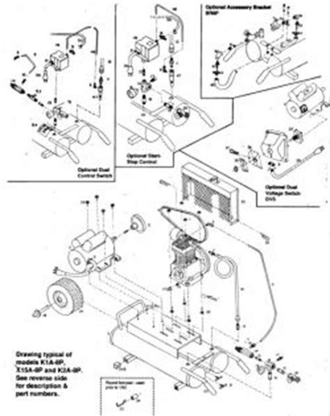emglo k1a 8p air compressor parts