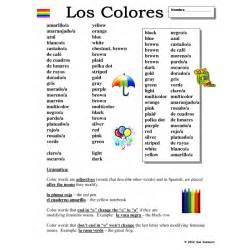 color vocabulary colors colores vocabulary list grammar explanation