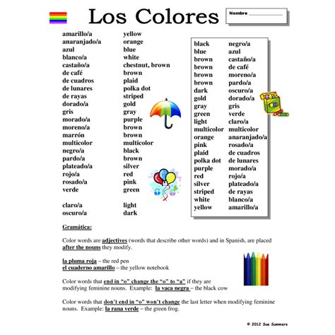 color in spanish pin spanish colors on pinterest