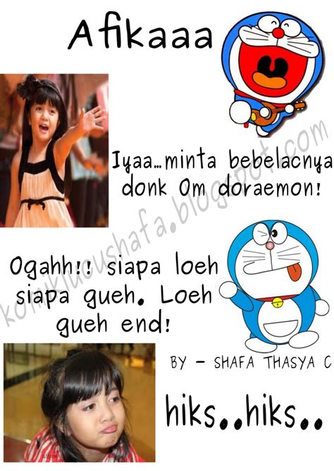Mentahan Meme - komik meme curan indonesia afika vs doraemon i